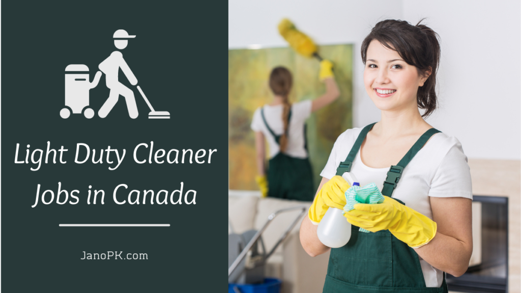 Light Duty Cleaner jobs in Canada