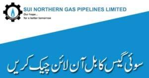Sui Gas Online Bill