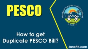 PESCO Bill Online Check - Get Duplicate Electricity Bill