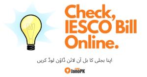 Check IESCO Bill online